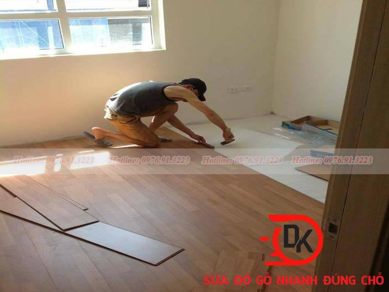 Sàn gỗ bị hở