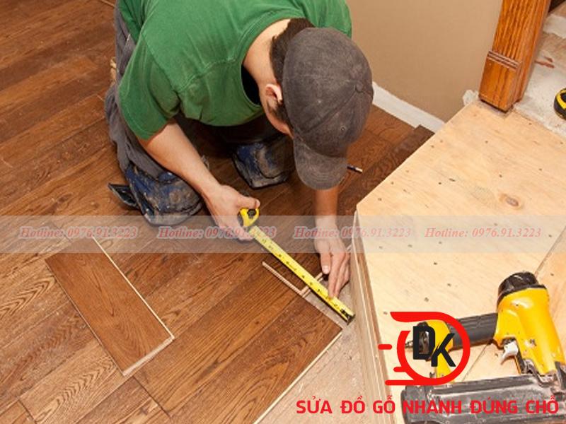 Sửa sàn gỗ tự nhiên tại Nội thất Đăng Khôi