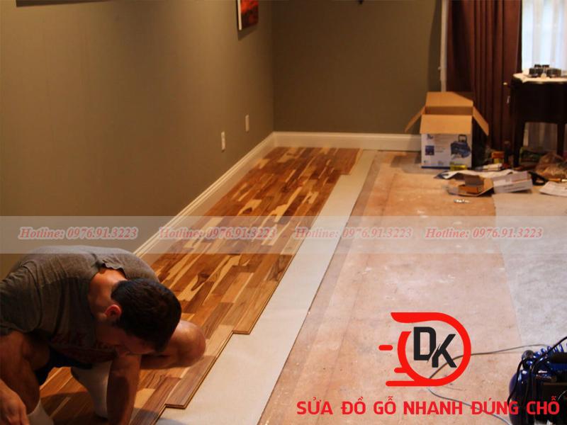 Cách xử ly sửa sàn gỗ