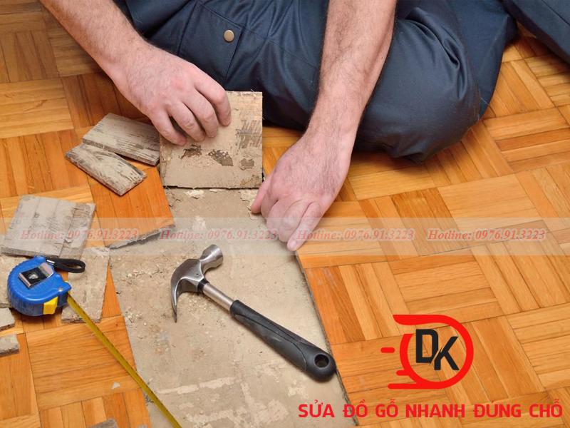 Làm thế nào sàn gỗ bị phổng