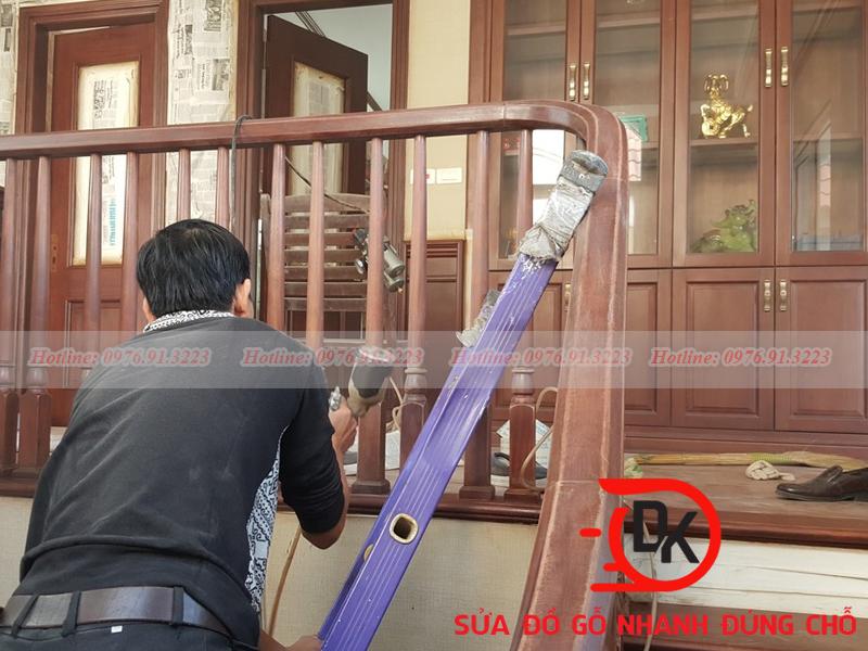 Sơn đồ gỗ tại nhà Hà Nội