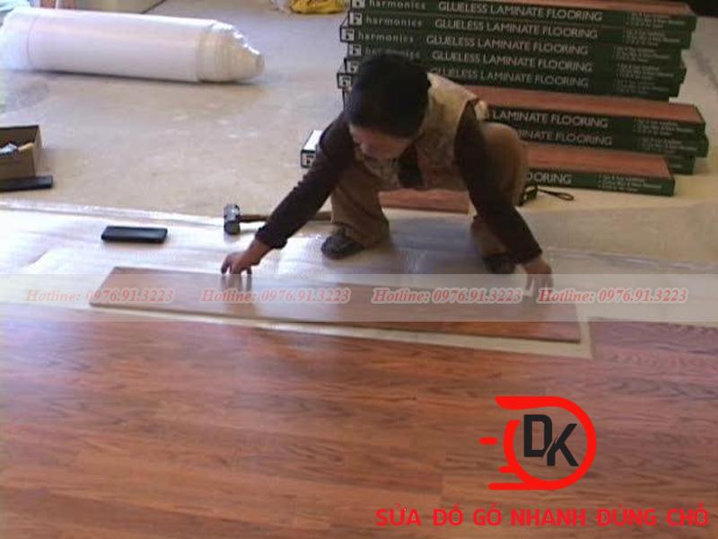 Thợ sửa sàn gỗ tại Nội Thất Đăng Khôi