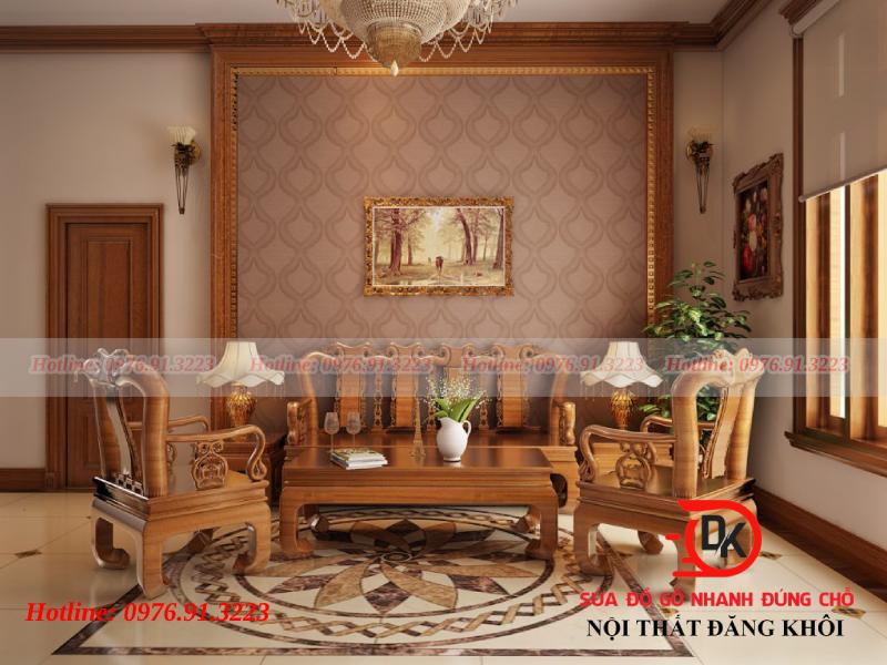Trang trí phòng khách bằng đồ nội thất gỗ đẹp khó cưỡng