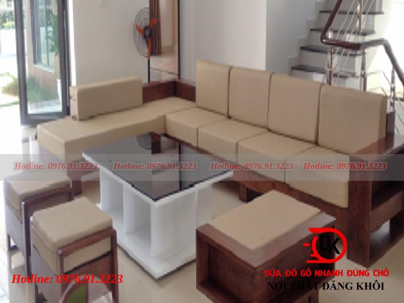 Sofa bàn ghế gỗ chữ L