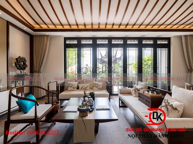 Bàn ghế gỗ - nội thất phòng khách bằng gỗ quan trọng